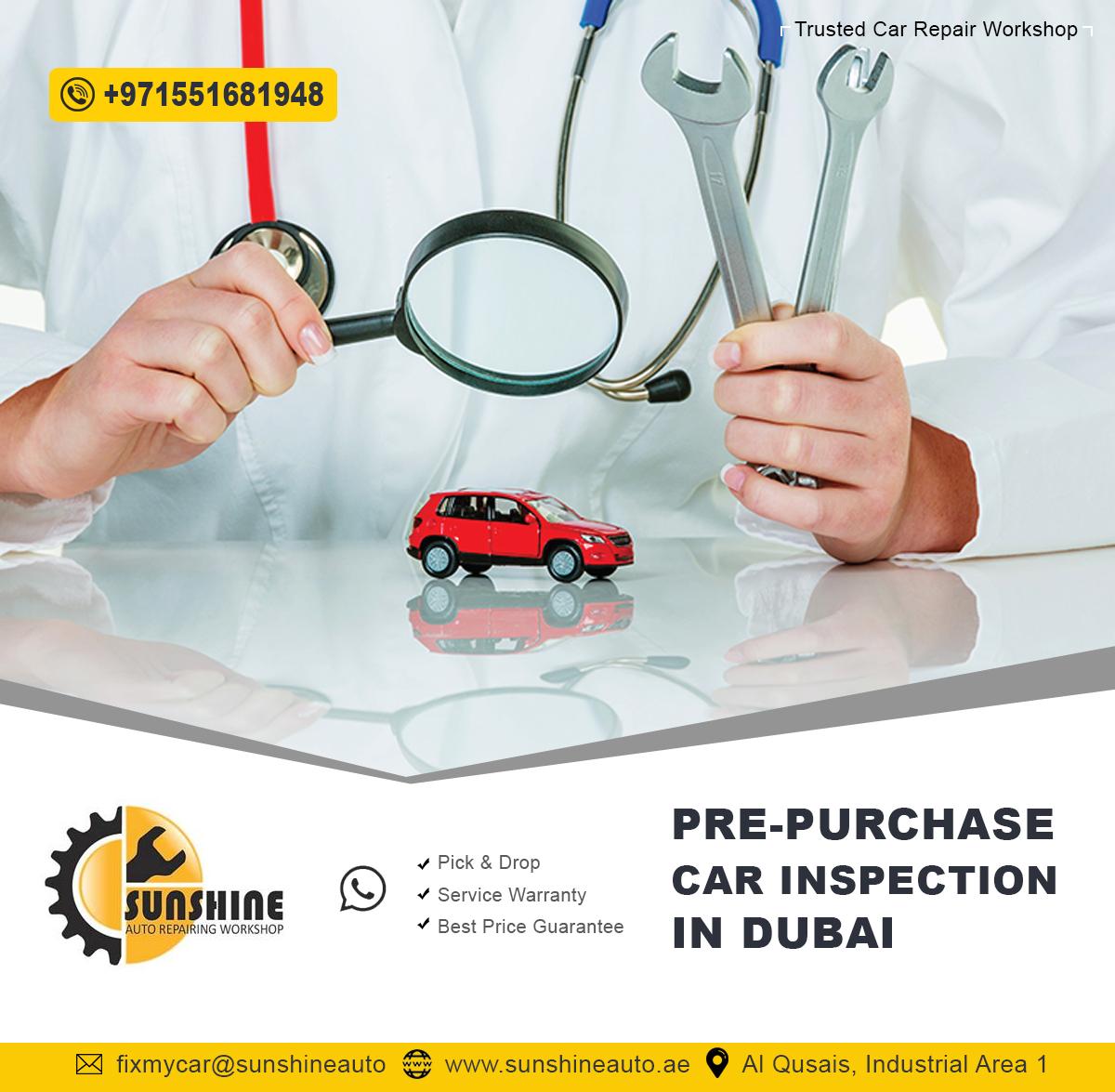 Vehicle Pre-Purchase Inspections - Sunshine Auto Car Repair Workshop